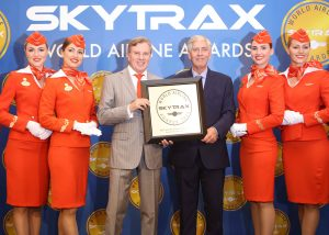 aeroflot at world airline awards